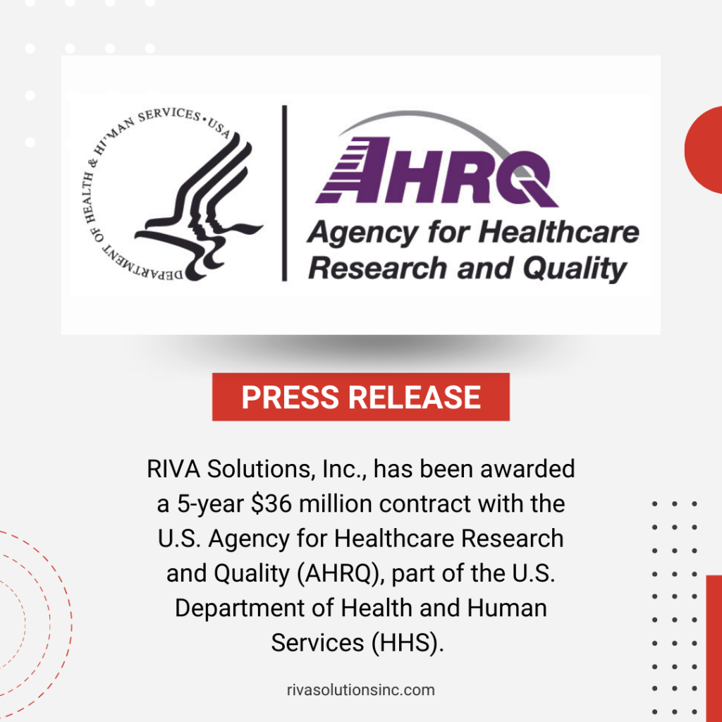 RIVA Solutions Awarded Contract with AHRQ